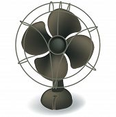 Retro Electric Fan Vector.eps