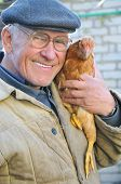 Grandfather With Chicken