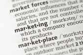stock photo of pronunciation  - Marketing definition in the dictionary - JPG
