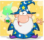Crazy Wizard Holding A Magic Potion
