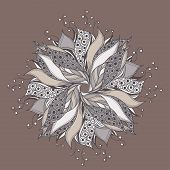 Fantasy flower pattern