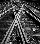 Crossed Railway In Outside