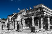 picture of ziggurat  - Chichen Itza feathered serpent pyramid in Mexico - JPG