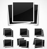 Square empty photo frames