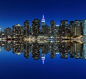 pic of empire state building  - Midtown Manhattan skyline at Night Lights - JPG