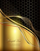 Business abstract background elegant gold.