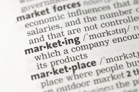 pic of pronunciation  - Marketing definition in the dictionary - JPG