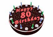 Chocolate Cake For 80Th Birthday