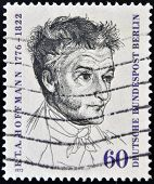 EAST GERMANY - CIRCA 1972: A stamp printed in Germany shows Ernst Theodor Amadeus Hoffmann