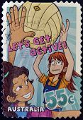 AUSTRALIA - CIRCA 2009: A stamp printed in Australia shows netball