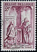 BELGIUM - CIRCA 1957: A stamp printed in Belgium shows Maximilian I of Hamburg circa 1957