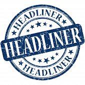 Headliner Grunge Blue Round Stamp