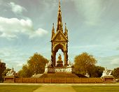 Retro Looking Albert Memorial, London