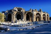 Ancient Theatre In Side, Turkey