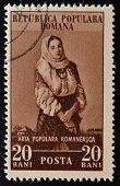 ROMANIA - CIRCA 1953: stamp printed in Romania shows woman circa 1953