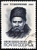 USSR - CIRCA 1964: stamp printed in Russia shows Shevchenko portrait (Ukrainian poet)