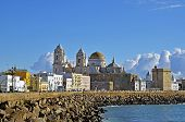 View of The Cathedral Nueva in Cadiz Andalusia Spain