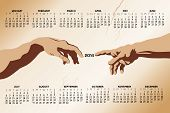 2014 Creation Of Adam Calendar