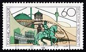 Postage Stamp Germany 1988 View Of City Of Dusseldorf