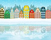 Multicolored Christmas City