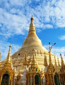 Shwedagon Pagoda in Yangon, Landmark and No. 1 tourist attractions in Myanmar (Burma).