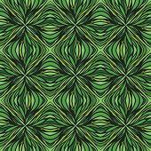 had drawn linear green vector pattern