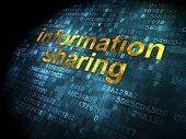 Information concept: Information Sharing on digital background