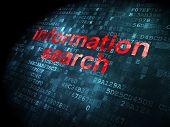 Information concept: Information Search on digital background