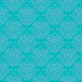 vintage damask pattern linear vector background