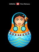 Matryoshkas of the World: Canada first nations girl in regalia