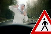 stock photo of dangerous situation  - Poor view causes dangerous driving situations - JPG