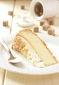 Delicate cottage cheese pie with a meringue