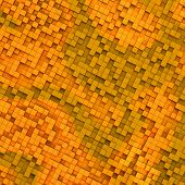 Gold Abstract Image Of Cubes Background