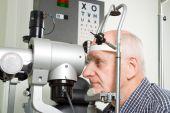 Older Man Having Eye Examination
