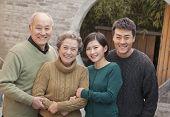 Portrait of happy smiling family