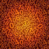 orange number background