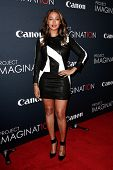 NEW YORK- OCT 24: TV personality LaLa Anthony attends the global premiere of Canon's