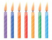 Birthday candles. Vector illustration.