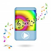 Dancing music player
