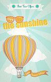 Summer Holidays And Hot Air Balloon