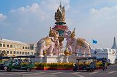 Pink Elephant Statue. Bangkok. Thailand.