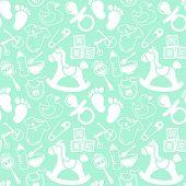 Babies Mint Pattern