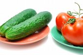 Red Tomatoes And Cucumbers