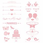 wedding invitation decorative elements,