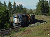 Westbound EMD 9044 Train