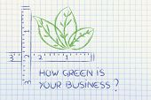 stock photo of environment-friendly  - CSR and environment friendly companies measure how green your business could be - JPG