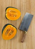 Fresh Acron Squash Cut In Half