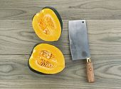 Large Acorn Squash Cut In Half