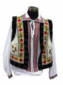 foto of national costume  - Beautifull balkanic national costume clothes isolated over white background - JPG
