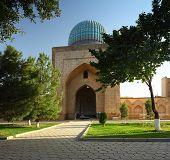 Bibi Khanym mosque at sunny day. Samarkand, Uzbekistan